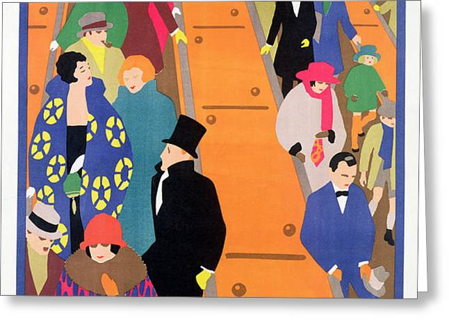 Brightest London is Best Reached by Underground Greeting Card by Horace Taylor