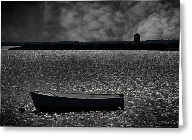 Low Light Greeting Cards - Brightlingsea Essex Greeting Card by Martin Newman