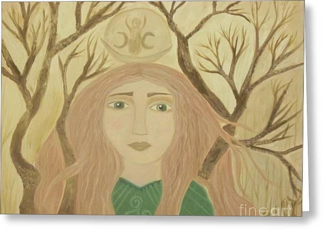 Goddess Greeting Cards - Brigid Celtic Goddess Greeting Card by Sacred  Muse
