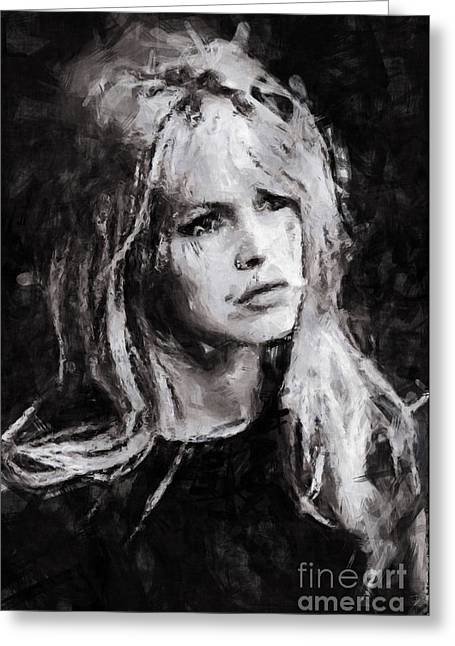Brigitte Greeting Cards - Brigitte Bardot Greeting Card by Stefan Olivier