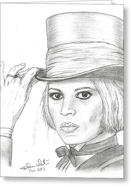 Recently Sold -  - Steven White Greeting Cards - Brigitte Bardot Greeting Card by Steven White