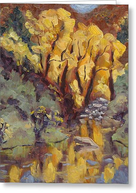 Steamboat Springs Western Greeting Cards - Brilliance at Service Creek Steamboat Springs Colorado Greeting Card by Zanobia Shalks