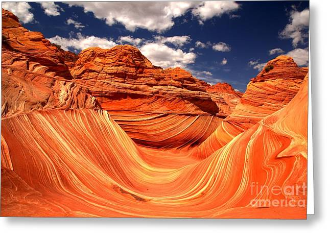 The Plateaus Greeting Cards - Brilliant Colors At The Wave Greeting Card by Adam Jewell