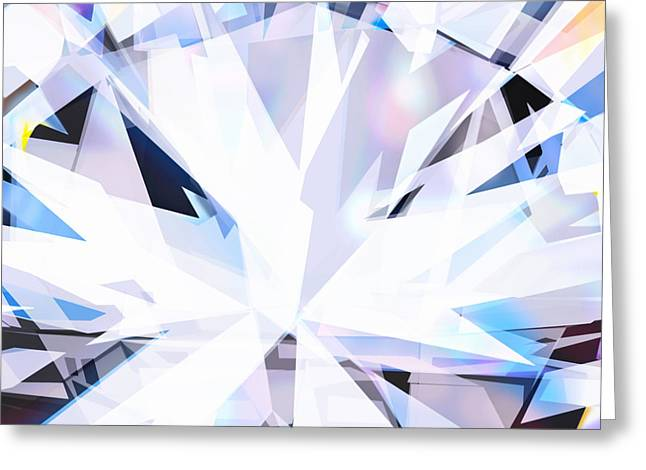 Background Greeting Cards - Brilliant Diamond  Greeting Card by Setsiri Silapasuwanchai