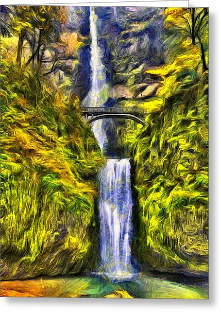 Brilliant Multnomah  Greeting Card by Mark Kiver