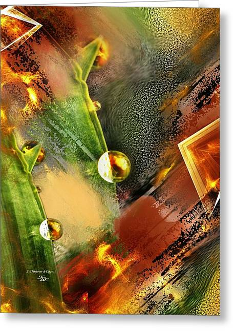 Abstract Digital Paintings Greeting Cards - Brindille Greeting Card by Francoise Dugourd-Caput