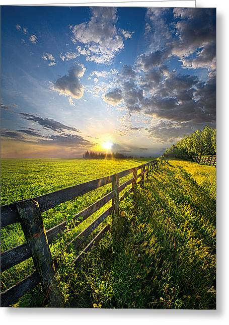Country Life Greeting Cards - Bring Heaven Near Greeting Card by Phil Koch