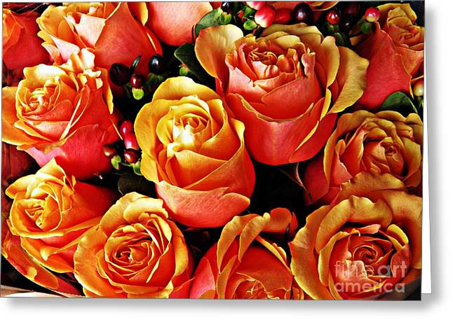Sarah Loft Greeting Cards - Bring Me Roses Greeting Card by Sarah Loft