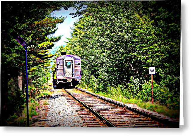 Old Caboose Greeting Cards - Bringing up the rear Greeting Card by Karen Cook