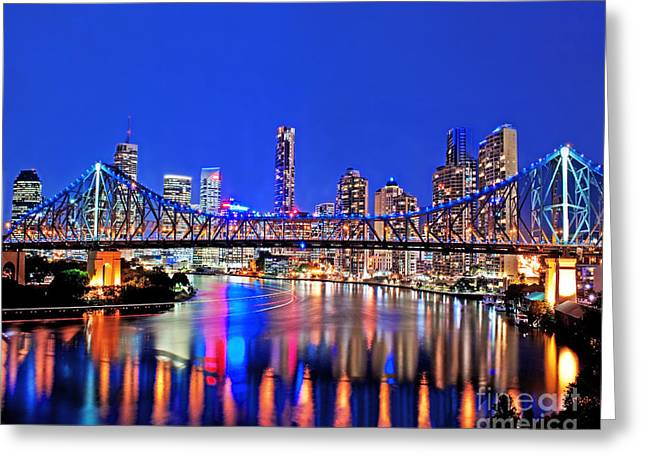 Embrace Greeting Cards - Brisbane In Late Evening Greeting Card by Chris Smith