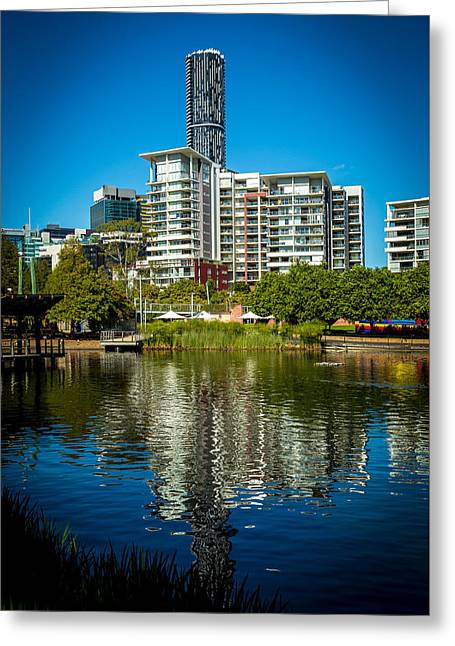 Canon 6d Digital Art Greeting Cards - Brisbane Reflections Greeting Card by Keith Hawley