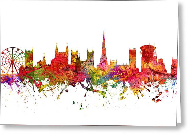 Bristol Greeting Cards - Bristol cityscape 08 Greeting Card by Aged Pixel