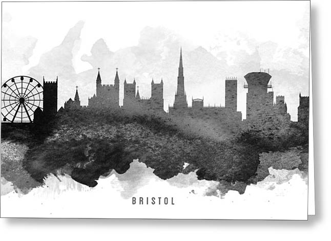 Bristol Greeting Cards - Bristol Cityscape 11 Greeting Card by Aged Pixel