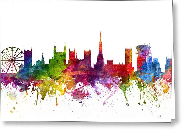 Bristol Greeting Cards - Bristol England Cityscape 06 Greeting Card by Aged Pixel