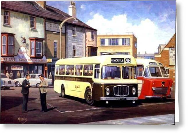 Coach Paintings Greeting Cards - Bristol REHL coach Greeting Card by Mike  Jeffries