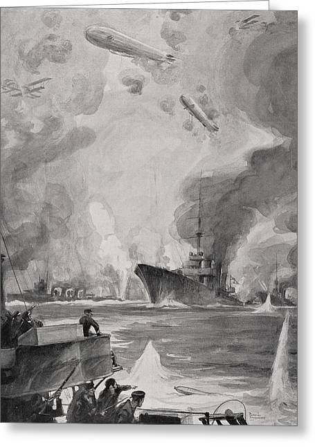 British Air And Naval Attack On Greeting Card by Vintage Design Pics