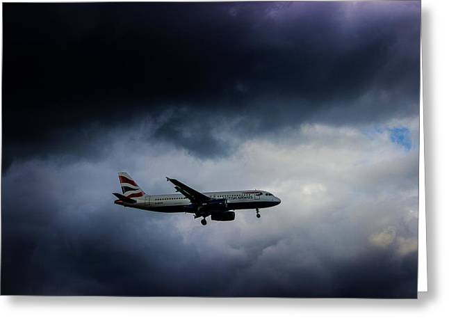 Plane Engine Greeting Cards - British Airways Jet Greeting Card by Martin Newman