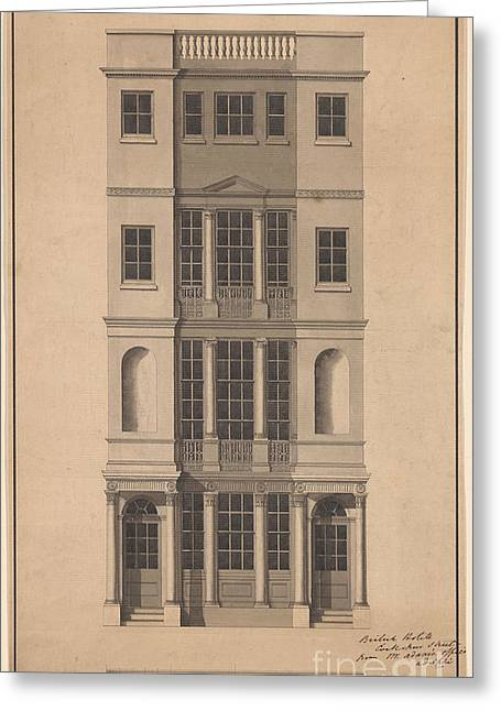 British Coffee House Greeting Card by Robert Adam