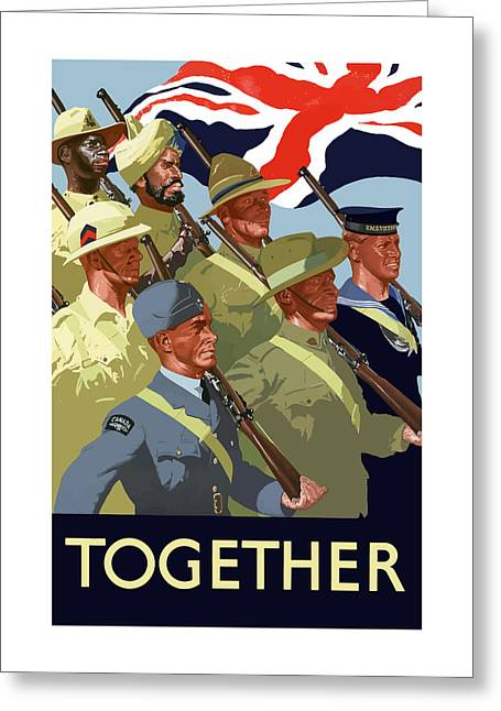 Political Mixed Media Greeting Cards - British Empire Soldiers Together Greeting Card by War Is Hell Store