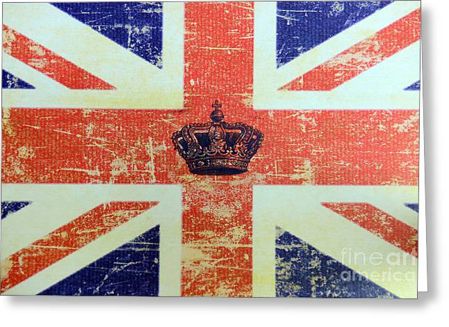 British Flag And Royal Crown Greeting Card by Paul Ward