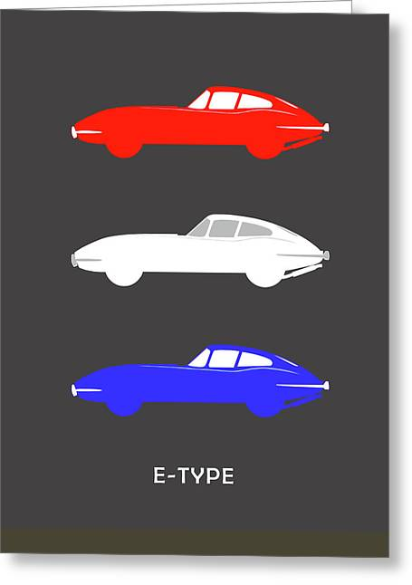 Jaguars Greeting Cards - British Icon - Jaguar E Type Greeting Card by Mark Rogan