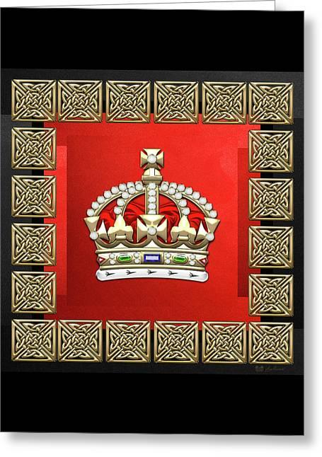 British Imperial Crown - Tudor Crown  Greeting Card by Serge Averbukh