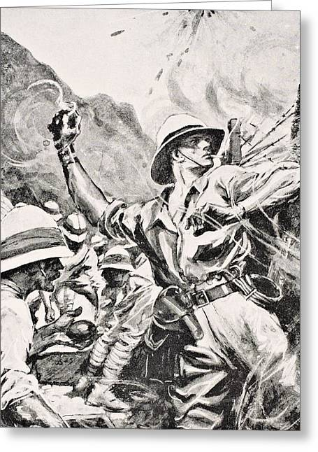 Hurl Greeting Cards - British Lieutenant W.t. Forshaw Vc Greeting Card by Ken Welsh