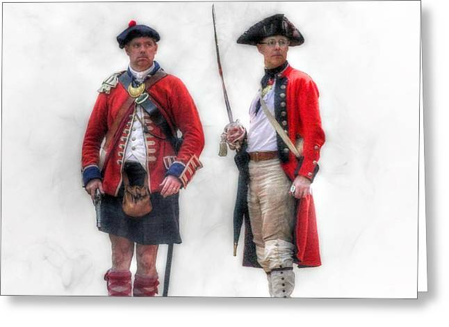 British Officer And Soldier Greeting Card by Randy Steele