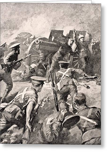 British Soldiers Bayonet Charge German Greeting Card by Vintage Design Pics