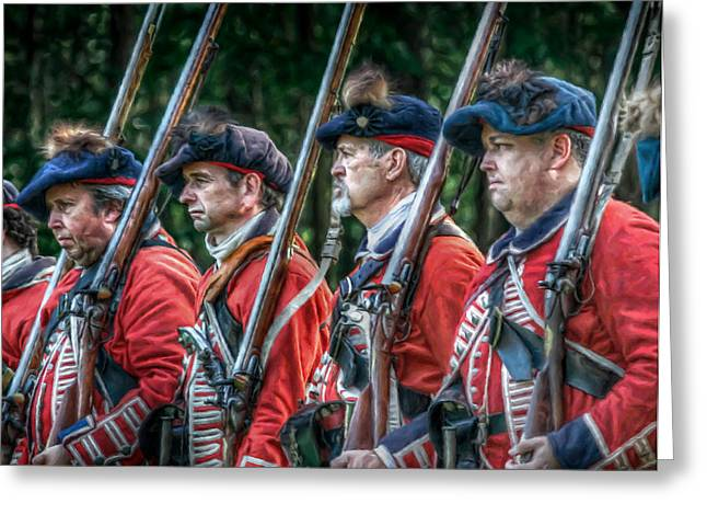 Under Fire Greeting Cards - British Soldiers March to Fort Pitt Greeting Card by Randy Steele