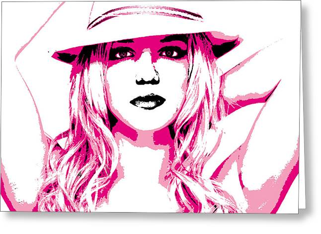 Britney Spears Greeting Cards - Britney Spears Greeting Card by Brad Scott