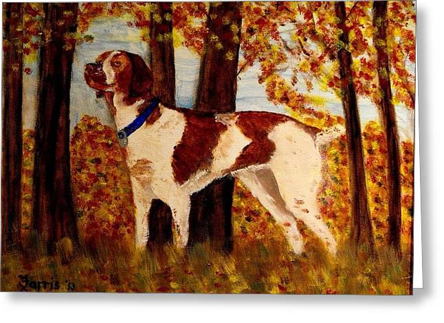 Spaniel Greeting Cards - Brittany Greeting Card by Larry Farris