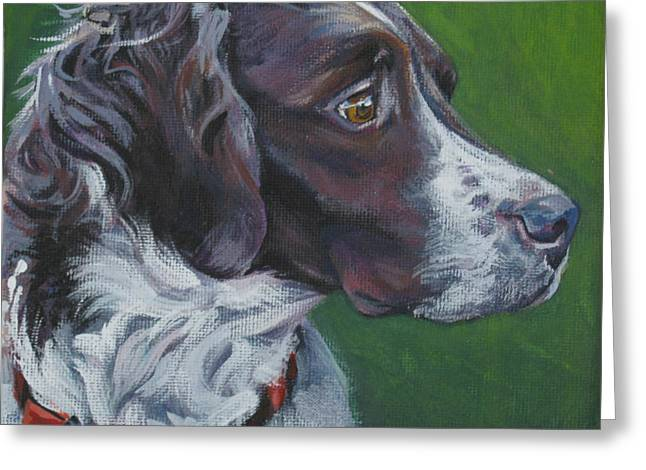Spaniel Greeting Cards - Brittany Greeting Card by Lee Ann Shepard