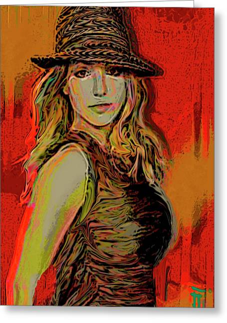 Celebrity Greeting Cards - Brittney Spears Greeting Card by  Fli Art