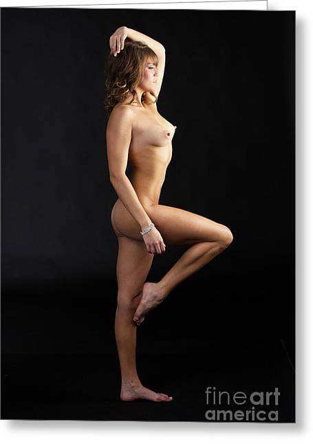 Brittnie Kae Nude Fine Art Print Sensual Sexy Photograph 5352.02 Greeting Card by Kendree Miller