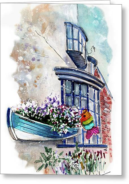 Broadies By The Sea In Staithes Greeting Card by Miki De Goodaboom