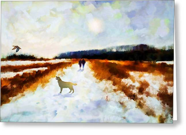 Kelly Greeting Cards - Broadland walk Greeting Card by Valerie Anne Kelly