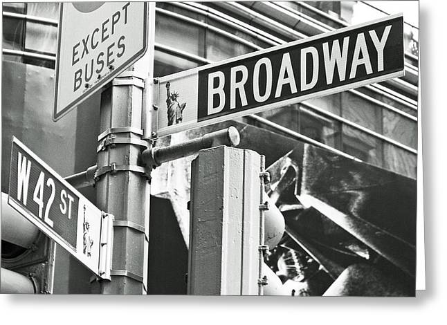 New Car Greeting Cards - Broadway and 42nd Greeting Card by Sharla Gentile