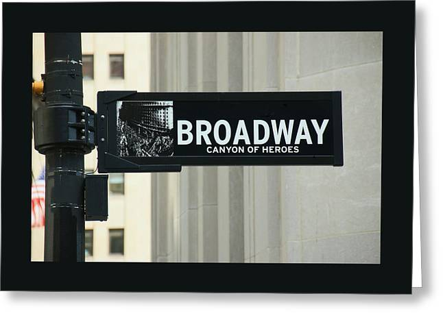 Broadway - Canyon Of Heroes Greeting Card by Allen Beatty