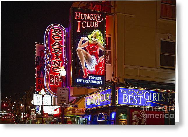 Broadway Neon Greeting Card by George Oze