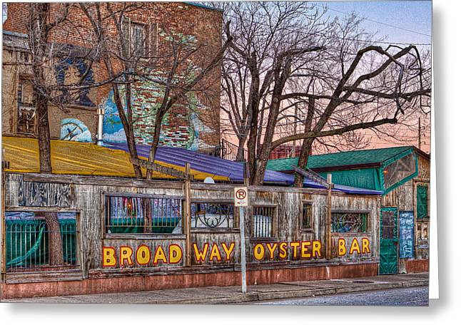 Broadway St Greeting Cards - Broadway Oyster Bar Greeting Card by Robert  FERD Frank
