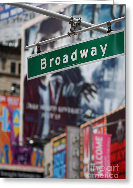 Sighs Greeting Cards - Broadway Times Square New York Greeting Card by Amy Cicconi
