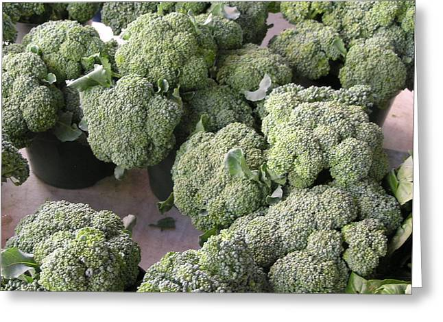 Best Sellers -  - Broccoli Greeting Cards - Broccoli Broccoli Broccoli Greeting Card by Janis Shortridge