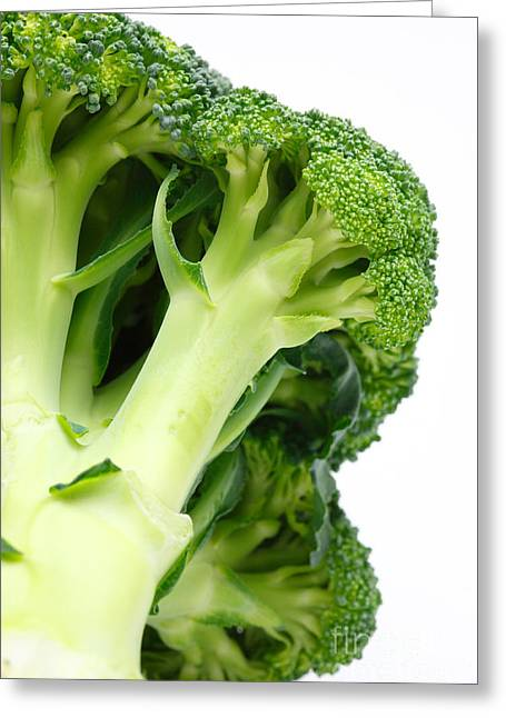 Broccoli Photographs Greeting Cards - Broccoli Greeting Card by Gaspar Avila