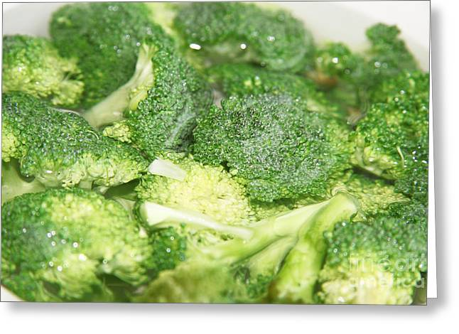 Broccoli Greeting Cards - Broccoli Greeting Card by Lali Kacharava