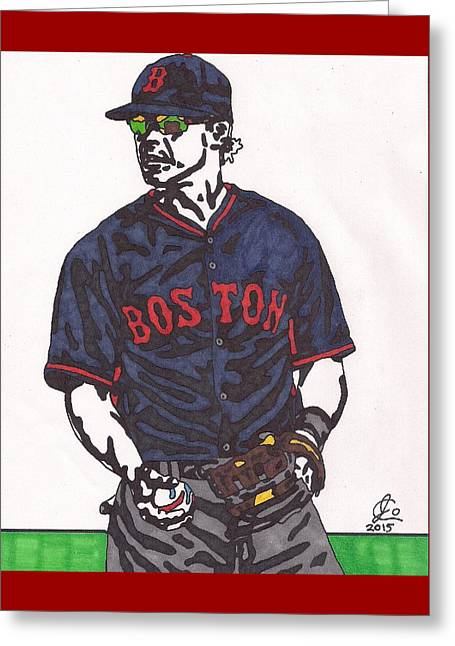 Boston Red Sox Greeting Cards - Brock Holt 1 Greeting Card by Jeremiah Colley