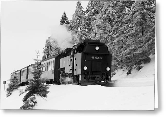 Brockenbahn, Harz Greeting Card by Andreas Levi