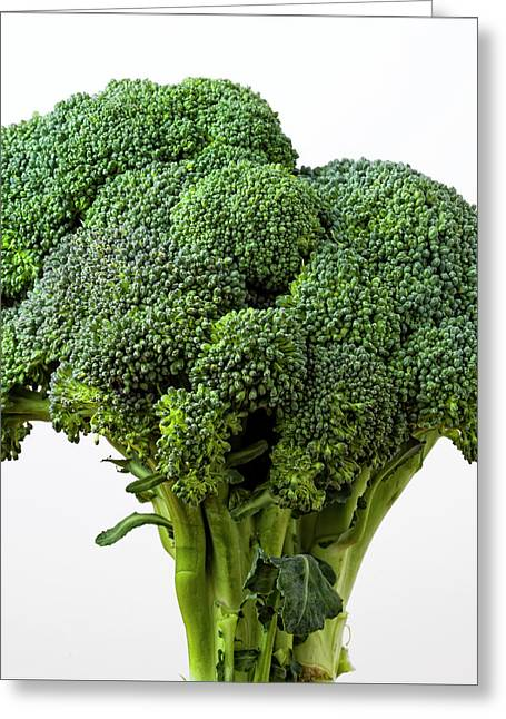 Best Sellers -  - Broccoli Greeting Cards - Brocolli Greeting Card by Robert Ullmann