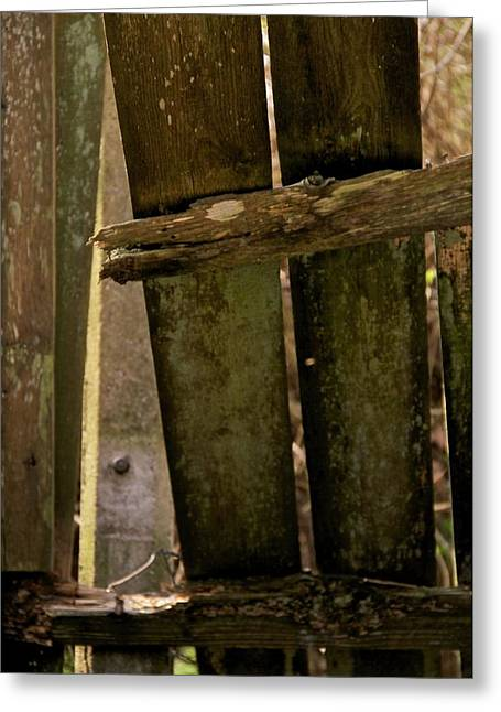 Breaking Through Greeting Cards - Broken Barricade Greeting Card by Odd Jeppesen