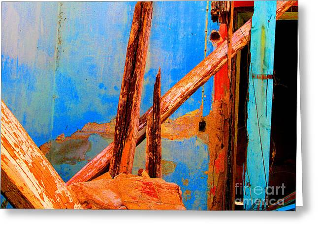 Broken Beams by Michael Fitzpatrick Greeting Card by Olden Mexico